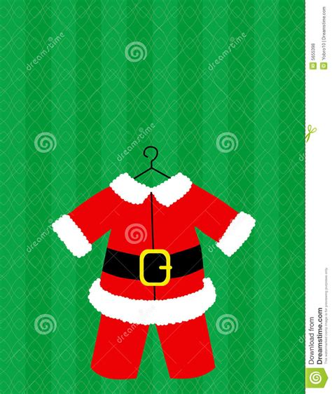 printable santa outfit santa suit vector royalty free stock photos image 5655398