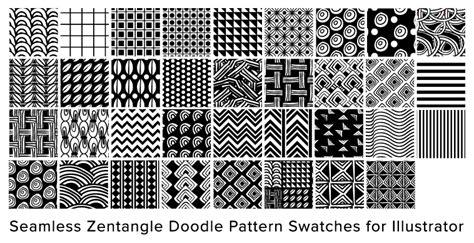 Zentangle Pattern Illustrator | free illustrator seamless swatches doodle pattern