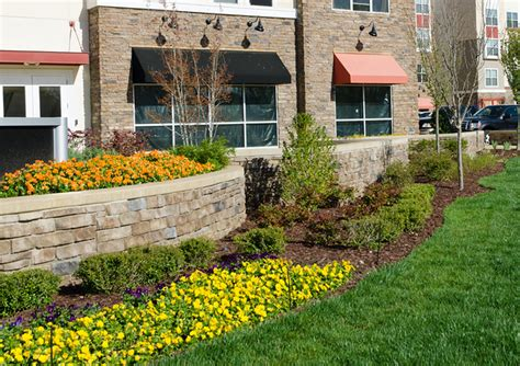 Landscape Design Around Signs Commercial Landscaping Www Pixshark Images
