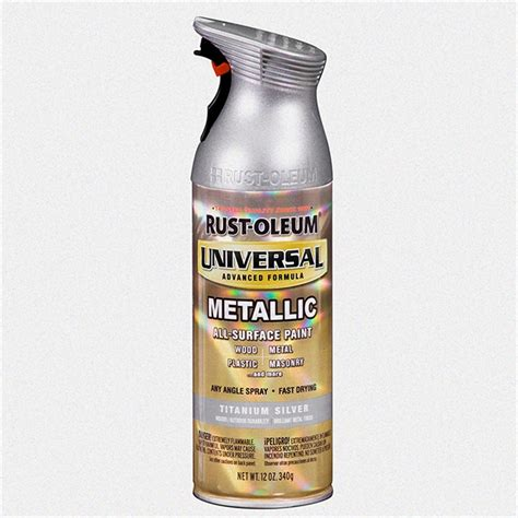 rust oleum universal 340g metallic titanium silver