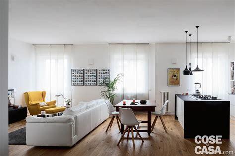 zona living e cucina open space per soggiorno cucina e zona pranzo cose di casa