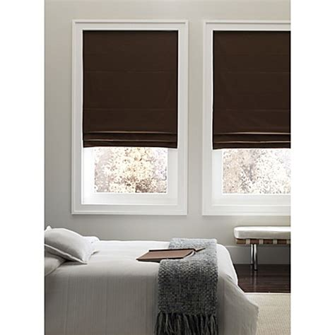 real simple bathroom real simple 174 cordless fabric roman shade bed bath beyond
