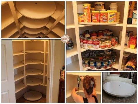 Diy Kitchen Storage by This Diy Lazy Susan Pantry Is Just For Food Storage