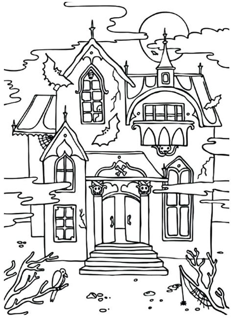 haunted house coloring pages captivating haunted house coloring page 49 on download