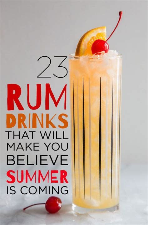 23 rum drinks that will make you believe summer is coming rum cocktails recipes daquiri recipe
