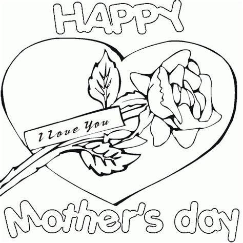 free printable coloring pages mothers day free happy day coloring pages