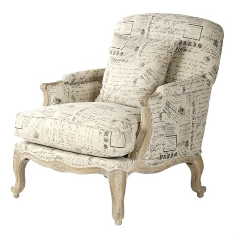 french recliner french country literary script linen club chair kathy