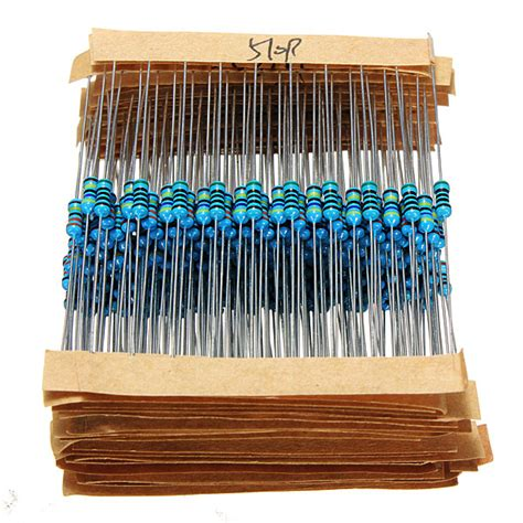 resistor set 640pcs 64 values 1r 10mr 1 4w metal resistors assorted kit set alex nld