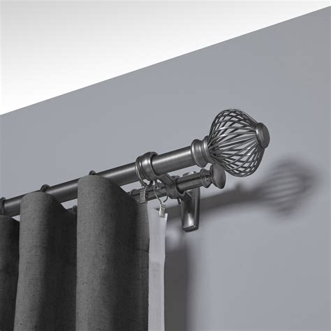 double drapery rods umbra spokes double curtain rod reviews wayfair