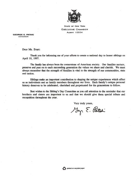 letters of support governors support siblings day foundation