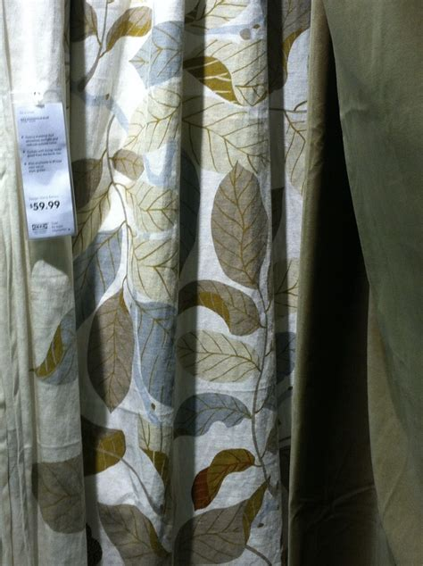 brown leaf curtains brown leaf pattern curtains ikea ideas pinterest
