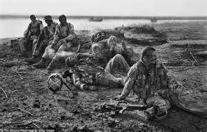Emotive british royal marines overcome by tiredness and grief stop