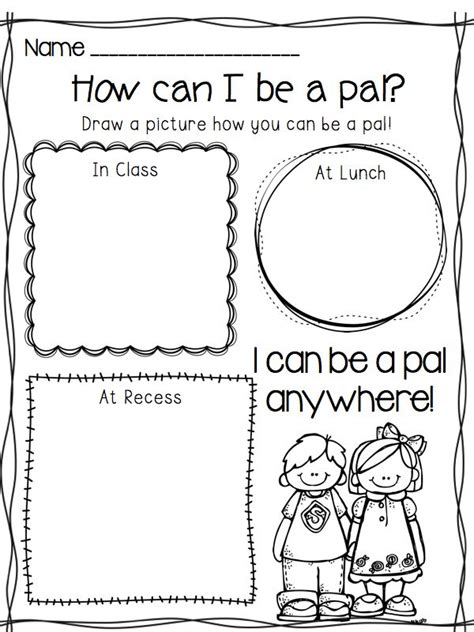 Friendship Worksheets by I Can Be A Pal Building Your Classroom Community