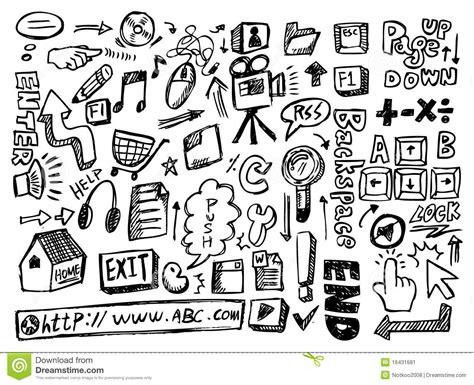 doodle website web doodle stock image image 16431681