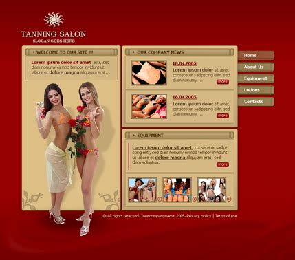 Inroads Website Templates Tanning Salon Website Templates