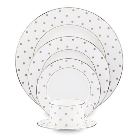 kate spade dinnerware kate spade york dinnerware gold dot place settings
