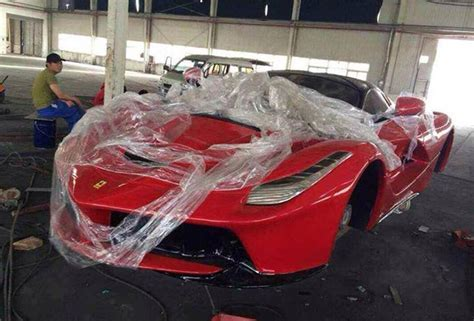 fake ferrari first laferrari replicas already in production yes but