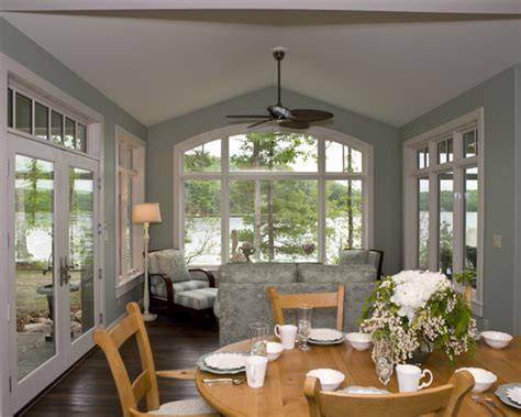 decoration contemporary dining room with white and grey color sunroom paint ideas and wooden