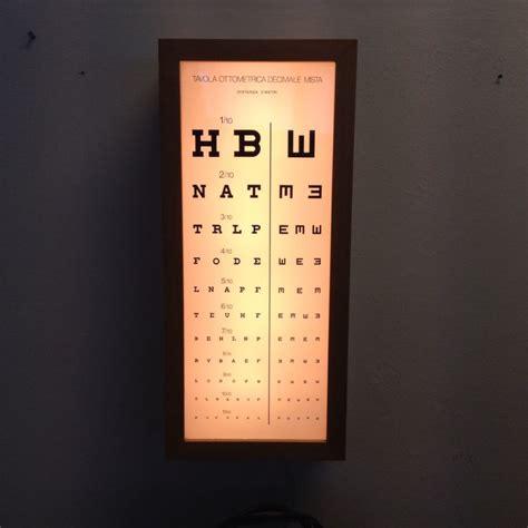 tavola optometrica tavola ottometrica luminosa da muro letto
