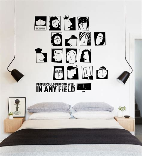 stickers for rooms cool wall stickers black pvc design self adhesive living room decorative