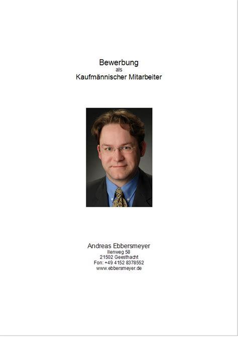 Bewerbungsmappe Mit Deckblatt Andreas Ebbersmeyer Bewerbungstipps F 252 R Arbeitsuchende