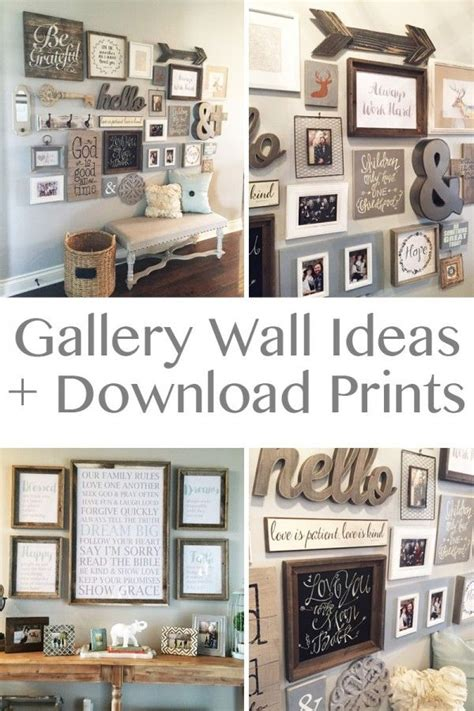 wall gallery ideas 1000 ideas about foyer wall decor on pinterest planked