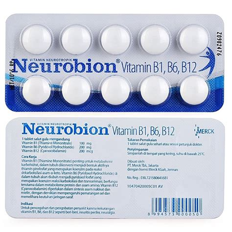 Vitamin Neurobion 10 50 100 250 tablets neurobion vitamin b complex b1 b6