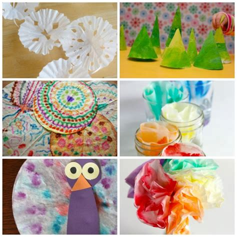 Coffee Filter Paper Crafts - 24 coffee filter crafts to make make and takes