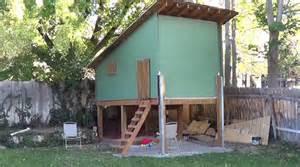 Backyard Treehouse For Kids - tour of raised playhouse treehouse youtube