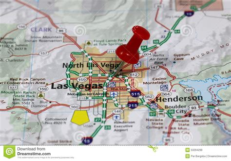 map usa las vegas las vegas stock image image of high vegas