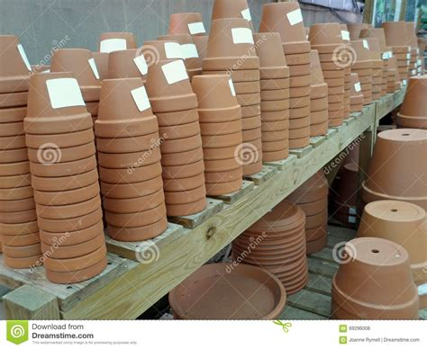 plant pots for sale retford terracotta lacquered plant stacks of terracotta flower pots for sale stock photo