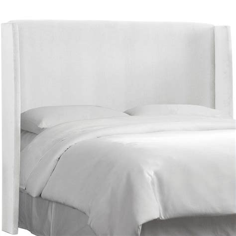 white panel headboard skyline furniture wingback panel headboard in white