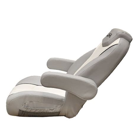 Reclining Boat Chairs by Larson 14 Lsr White Gray Reclining Boat Captains Seat