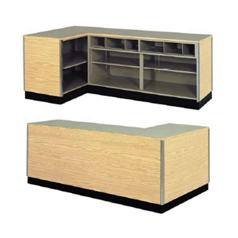 l glass store right side l shaped counter retail checkout counter
