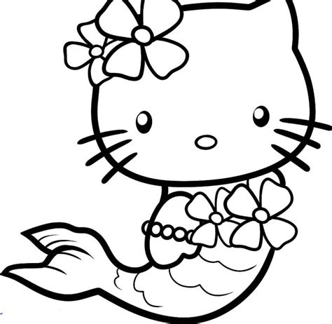 Gambar Mermaid hello mermaid coloring pages mewarna gambar