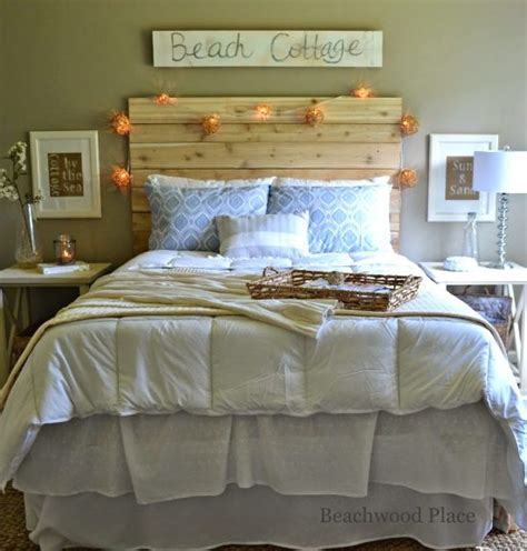 how to make a beach themed bedroom beach theme guest bedroom with diy wood headboard wall