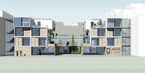 modular apartments modular housing mixed use complex centers around