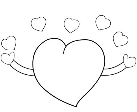 imagenes de corazones sin pintar dibujo para colorear de amor colorea online gratis