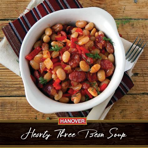 hanover kidney beans chili recipe hearty three bean stew hanover foods