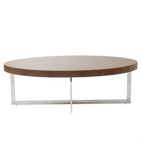 eurostyle oliver oval coffee table in walnut 28041a