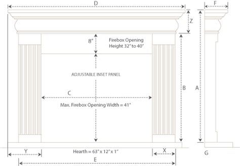 Gas Fireplace Clearance To Combustibles by Jefferson Builder Series Fireplace Mantel
