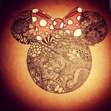 pattern work mandala minnie mouse head by joanne 56 best disney zentangle images on pinterest drawings