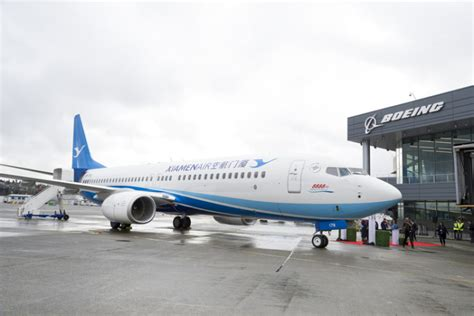 xiamen airlines hopes for prosperity with 8 888th 737 800
