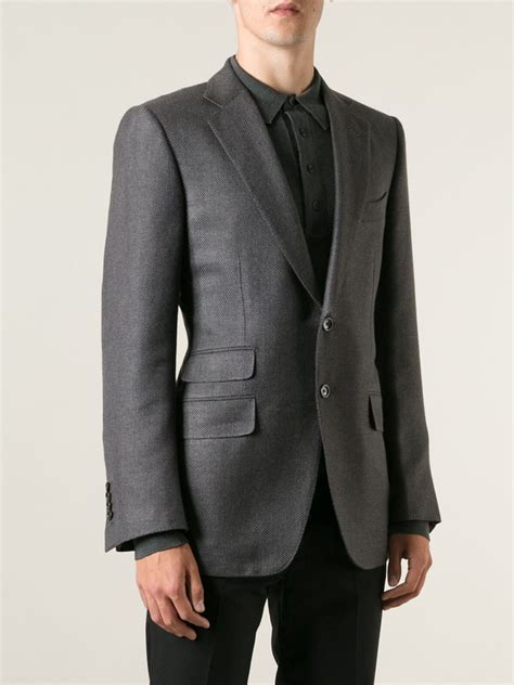 Jas Blazer Exo Grey lyst tom ford classic two button blazer in gray for