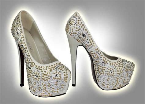 wholesale ivory studded platform shoes