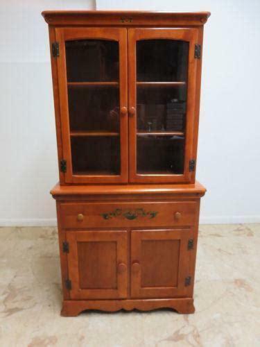maple china cabinet ebay