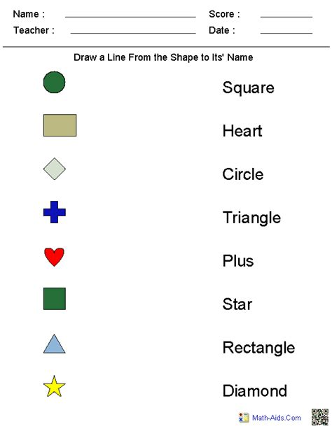 shapes worksheet with names shapes and their names new calendar template site