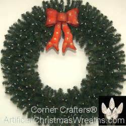 48 inch deluxe lighted christmas wreath cornercrafters
