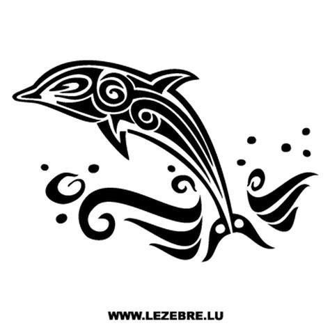 autocollant dauphin tribal