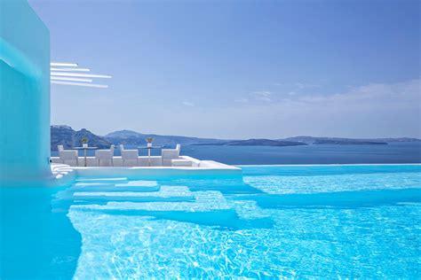 best hotel in santorini oia infinity pool bar restaurant canaves oia santorini